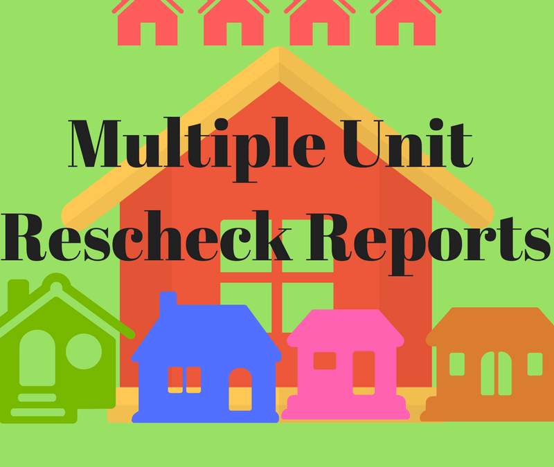 Rescheck Energy Compliance Certificate for Multiple Units